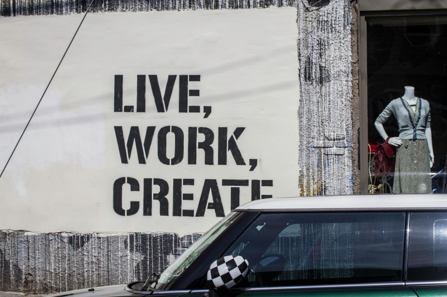Writing on the wall: Live,Work, Create