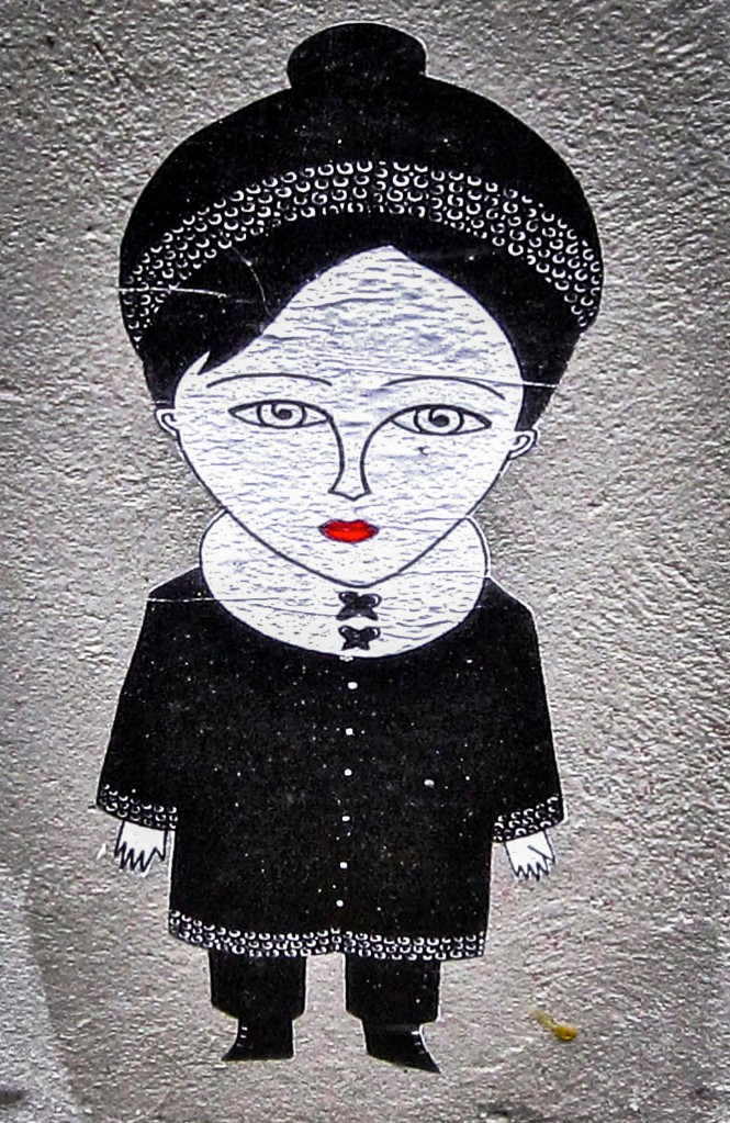 Paris - Street Art - woman with hat