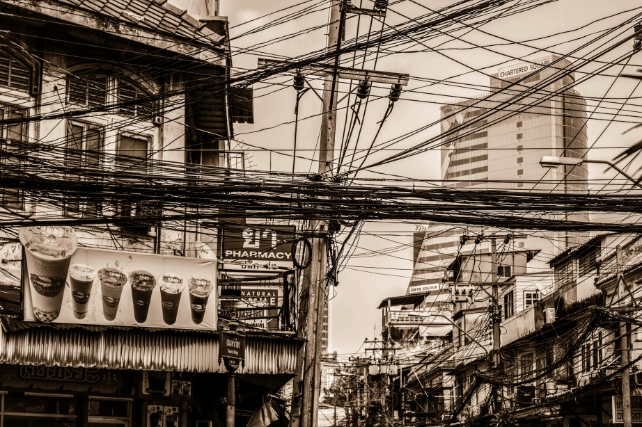 crazy wiring as seen in Bangkok