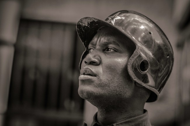 Man with Helmet - Nairobi