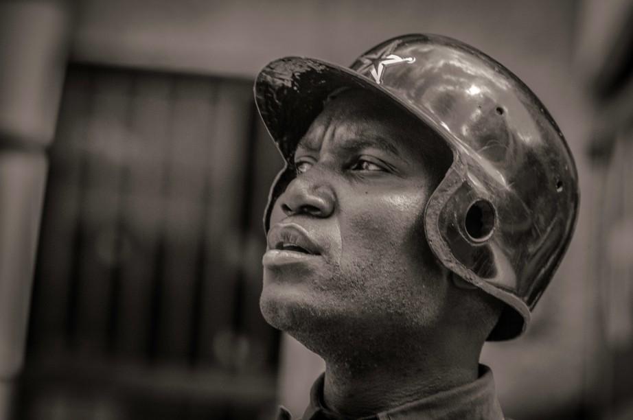 Man with Helmet - Nairobi
