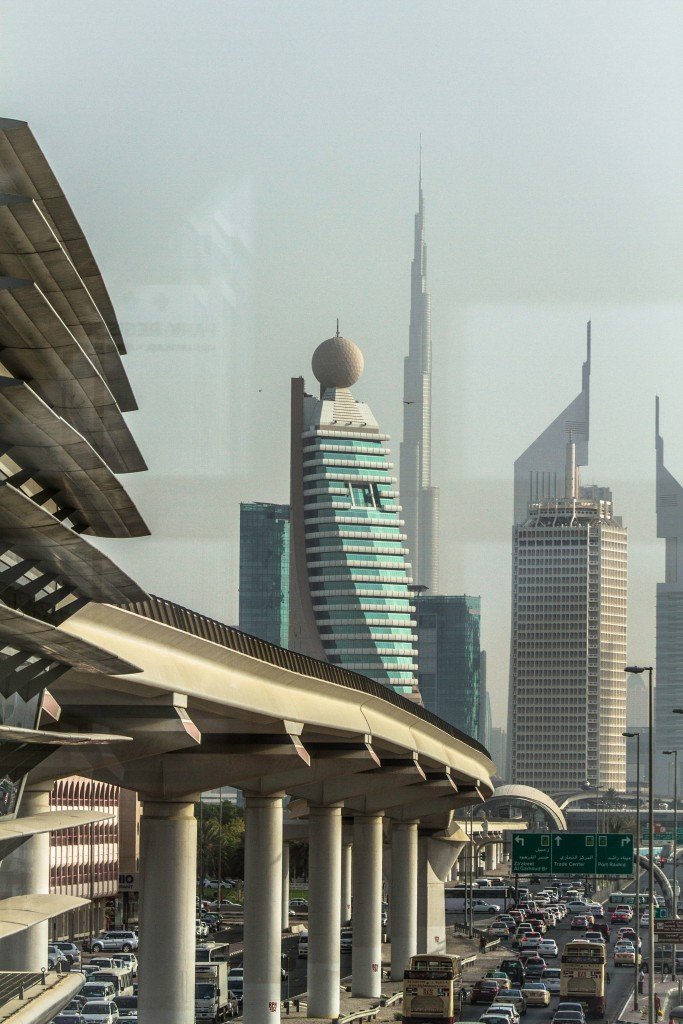 Photograph - View of Burj Khalifa from inside Karama Subway Station, Dubai