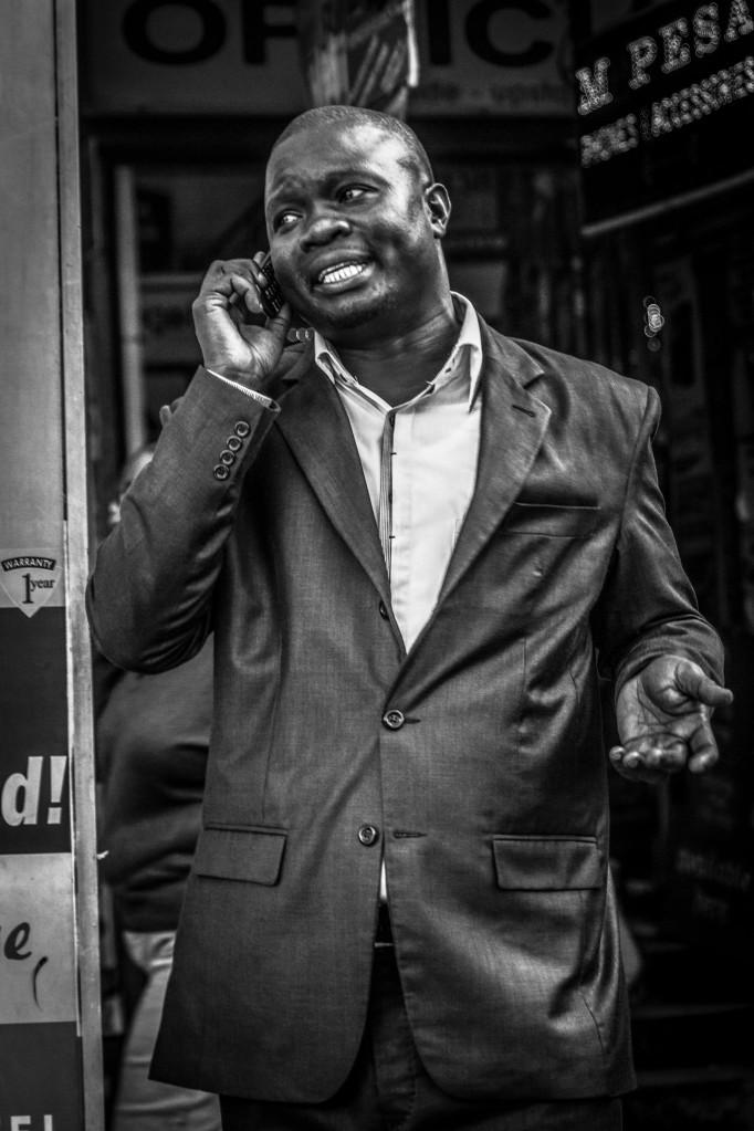 Portrait of businessman in Nairobi