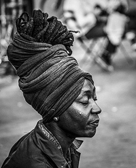 Monochrome Portrait - Profile of African Woman