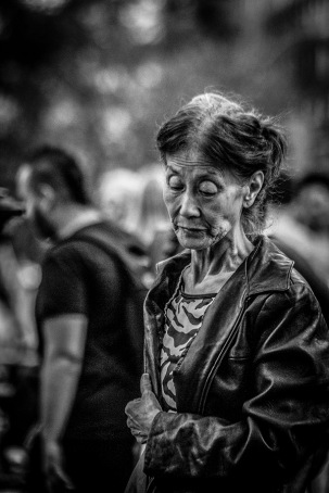 B&W Portrait of Elderly Asian Lady 2