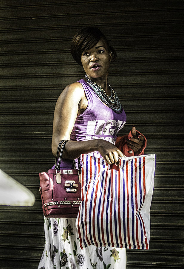 Street Shot of Kenyan Woman in color