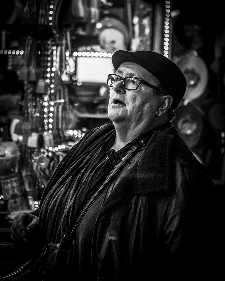 B&W Street Shot: At the Christmas Market