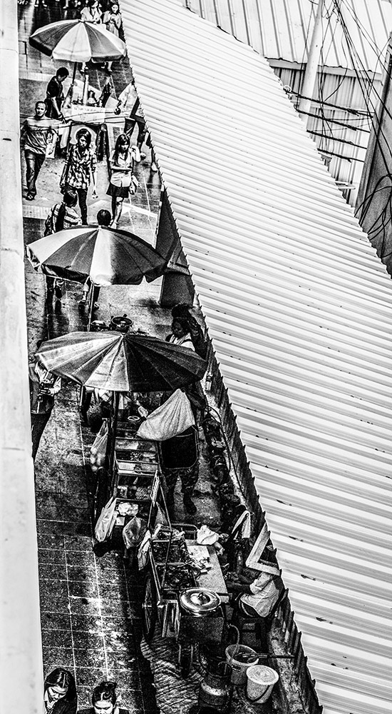 Monochrome Street Shot Bangkok