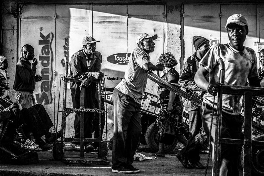B&W Street Scene in Nairobi
